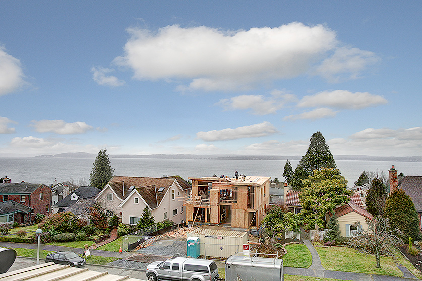 Extensive Puget Sound views and situated high up off the street