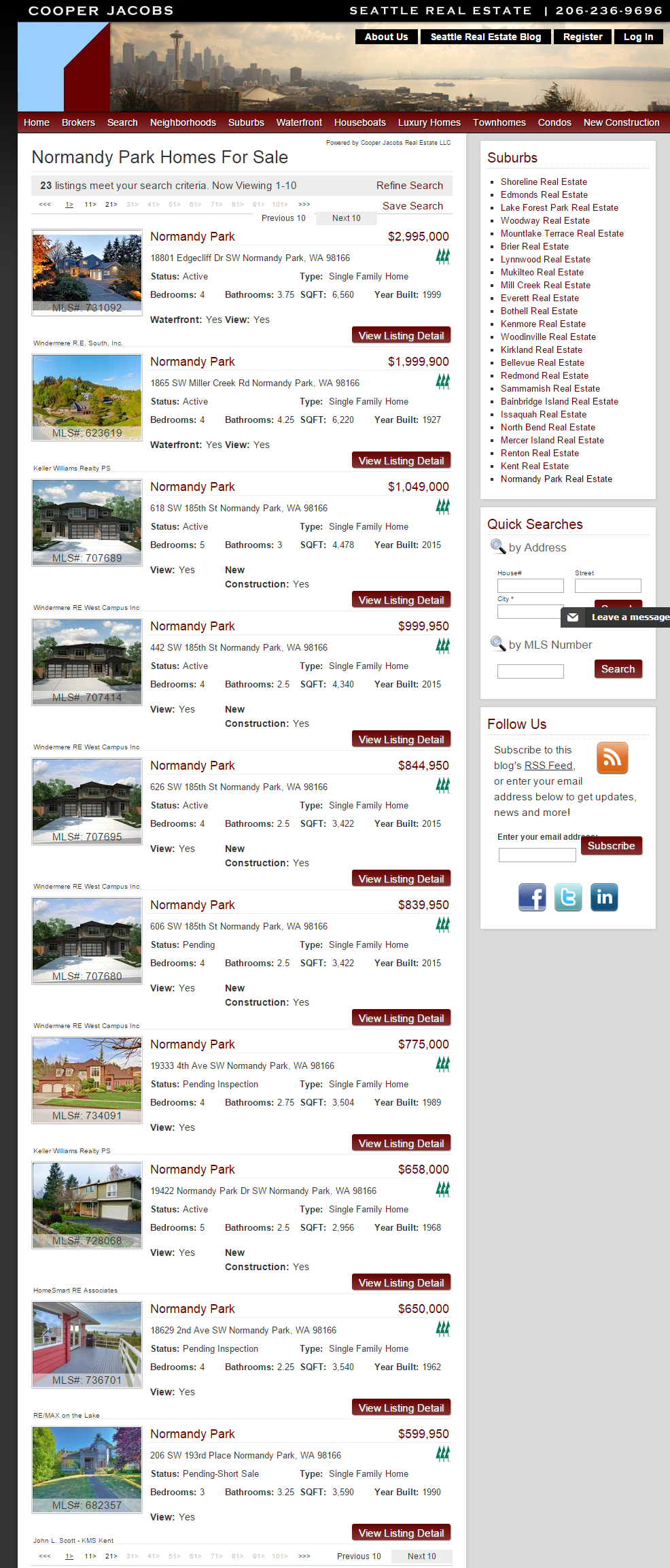 Normandy Park Homes For Sale